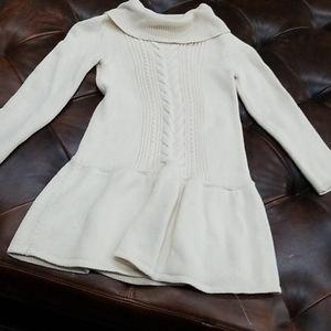Gap toddler girls size 5 sweater dress beige